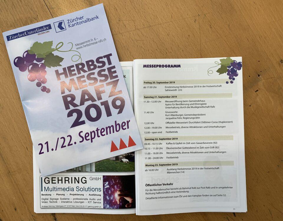 Herbstmesse Rafz 2019